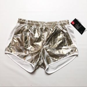 Under Armour Heat Gear Gold/White Athletic Shorts